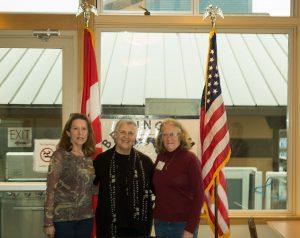 Mayor Linville, President Teresa Van Haalen and Past-President Karen Callery